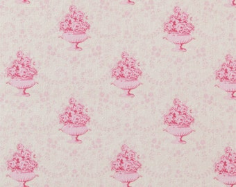 Tilda Fabric, Tilda Venice Pink Fat Quarter, Sweet Christmas Collection, Tilda Cotton Fabric 480597, Fat Quarter, 50 cm x 55 cm