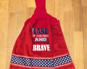 Land of the Free Kitchen Towel - Independence Picnic Camping Grilling BBQ