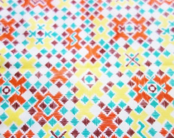 Orange Feed Sack Fabric, 1940-50s Grain Sack Fabric, Yellow Feed sack Fabric, Vintage Fabric, Yellow Fabric
