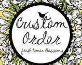 Jessica Custom Order 5 inch Letter Banner