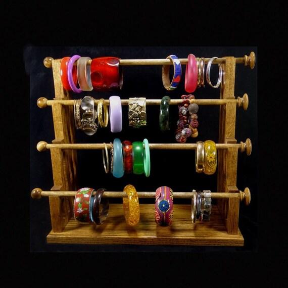 mission style 4 wand standing bracelet holder organizer. Black Bedroom Furniture Sets. Home Design Ideas