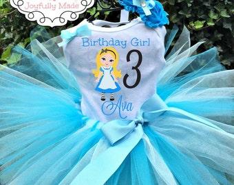 Alice in Wonderland Tutu Set - Alice in Wonderland Outfit - Alice in Wonderland Dress