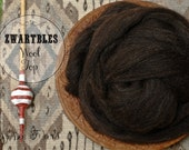 ZWARTBLES Undyed Combed Top Natural Brown Wool Roving for Spinning or Felting 4 oz