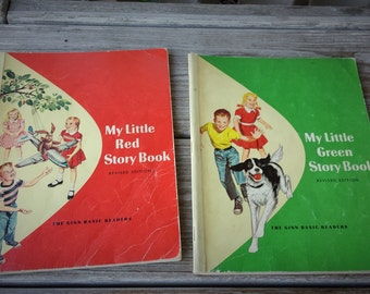 My Little Red Story Book and My Little Green Story Book Paperback Childrens Basic Readers