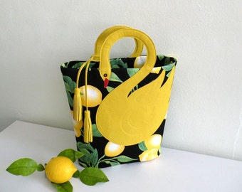 Lemon Swan Bag Tote,Purse