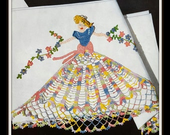 Vintage 50s Decorative Crochet Pillow Case Book - J & P Clarks Book No. 264 - Like New Condition