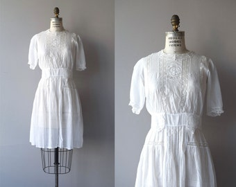 Verandah dress | antique 1920s lace dress | white cotton 20s dress