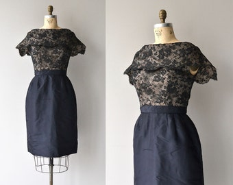 Impresario dress | vintage 1950s dress | lace 50s cocktail dress