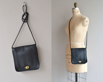 Coach 'Companion' bag | vintage Coach bag | black leather saddle bag