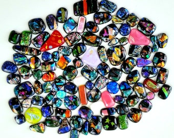 Dichroic Cabochons - 25