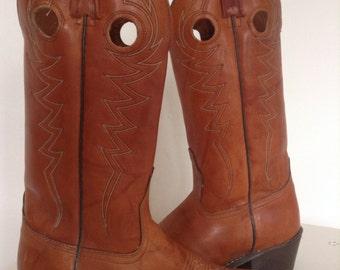 VTG ACME Leather Cowboy boots size 8 Women's //