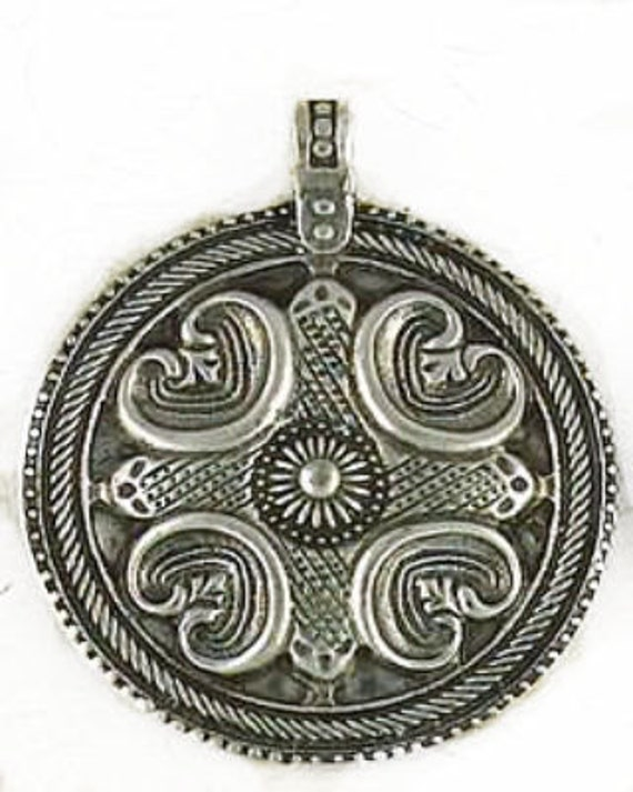 odin nordic pewter pendant symbolic viking jewelry power and