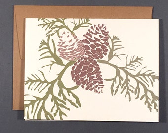Pinecone Single Card