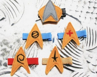 Go Boldly Clippie, Star Trek Inspired Hair Clip