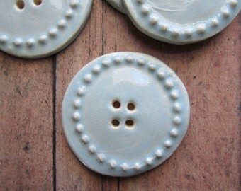 ONE LEFT!! Baby Blue Buttons