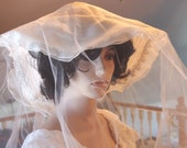 Vintage Victorian Design Wide Brim Bridal White Hat with Veil Beach Party Country Wedding