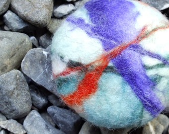 Almond Scented Felted Soap- Compassionate Wool- Natural Gift- Thoughtful Gift- Exfoliating Soap-Luxury Soap-Handmade-Gift for Dad- Homemade