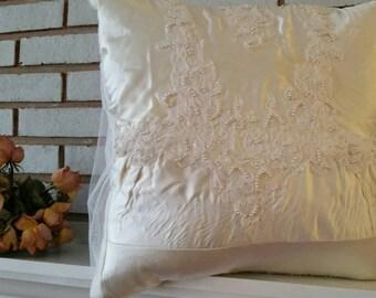 Wedding dress pillow custom made to order