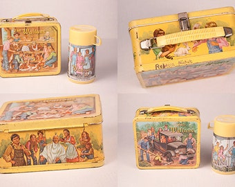 The Waltons Lunch Box and Thermos 1973 Aladdin Lorimar Productions, Inc Vintage Collectible Kitchen Decor