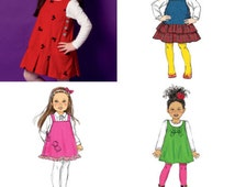 GIRLS JUMPER PATTERN / Make School Clothes / Sizes 2 - 5 Or 6 - 8 / Easy To Do
