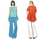Vogue V8821 Sewing Pattern - Vogue Patterns Misses Tunic and Pants Sewing Pattern