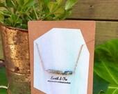 Jasper Ombre Minimalist Choker || Jasper Copper Necklace || Jasper Rose Gold Strand Necklace || Copper Gemstone Jewlery ||  Crystal Necklace