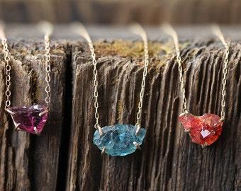 Raw Gemstone Necklace