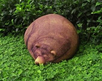 Big Sleeping Grizzly Bear Beanbag - Free shipping world-wide