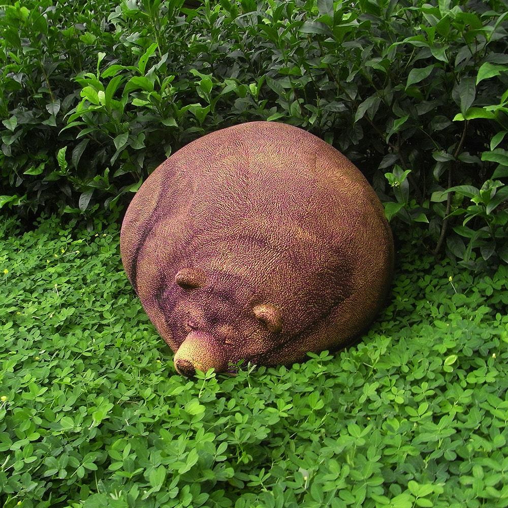Big Sleeping Grizzly Bear Beanbag Free shipping world-wide