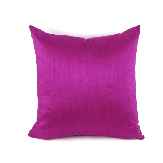 Purple Silk Throw Pillows : Purple Silk Pillow Grape Silk Pillow Cover Square Silk