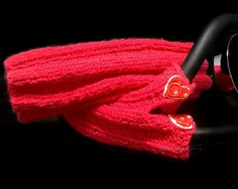 I heart you - knitted Stethoscope cover