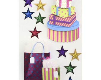 Little B Birthday Gift  3D Stickers