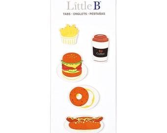 Little B Fast Food, Decorative Adhesive Tabs, 100 Tabs