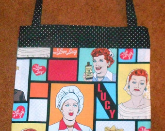 I LOVE LUCY BAG, Fully Lined, Unique and Perfect for the Lucy Fan