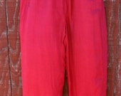Marva - Vintage 80s sand washed silk pants M L XL