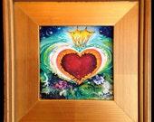 Royal Heart - original painting, so precious, framed