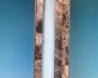 Window into the Spiritual Mezuzah with Stone and Glass