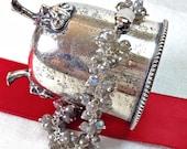 CUPID SALE Labradorite Bracelet Wire Wrapped Sterling Silver Cluster Bracelet Mystic Labradorite Grey Gemstone Handmade Bracelet Gift for He