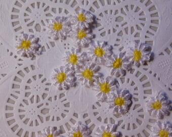 Tiny Daisy Appliques - Twenty of Them