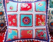 Crochet edged patchwork &...