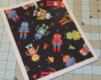 New robots chalkboard placemat