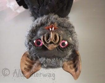 Ambrosia the Vampire Bat - Whiteleaf Village Jointed Art Doll