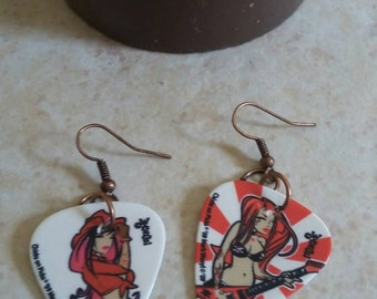 Rocker Chic Guitar Pick Earrings