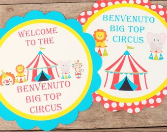 Big Top Circus Party - Custom Circus Party Sign by The Birthday House