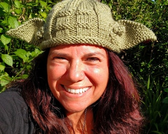 Adult Yoda Hat All Sizes Star Wars Hat Yoda Beanie Photo Prop Halloween Custom Green Handmade Knitted