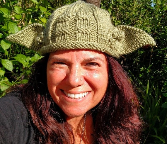 Adult Yoda Hat All Sizes Star Wars Hat Yoda Beanie Photo Prop Halloween Custom Green Handmade Knitted