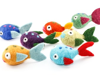 Needle Felted Fish - Choose Your Color