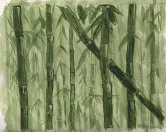 Bamboo 8x10 image on 9inx12in paper