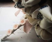 Vintage Fabric Posey * Vintage Fabric Bouquet * Fabric Wedding Bouquet * Vintage Fabric Flowers * OOAK * Handmade Weddings