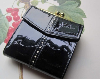 Vintage Baronet Coin Purse * Baronet 5th Ave. Wallet * Retro vintage Accessory * Patent Leather Coin Purse *